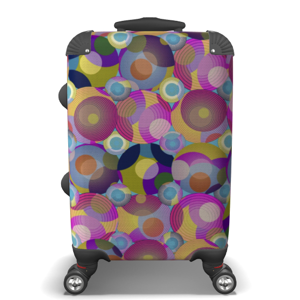Moon Collection on blue Suitcase