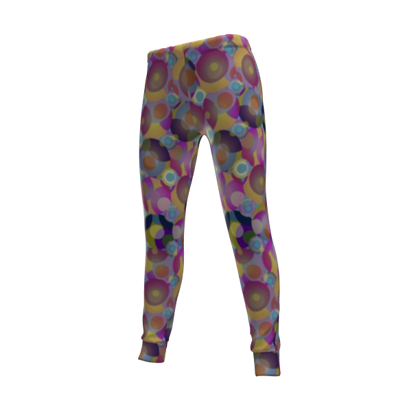 Moon Collection on blue Womens Jogging Bottoms
