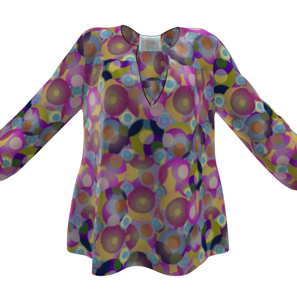 Moon Collection on blue Womens Blouse