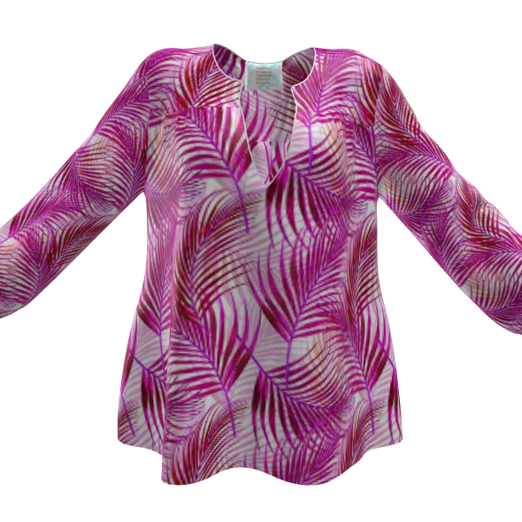 Tropical Garden Collection in Magenta Womens Blouse