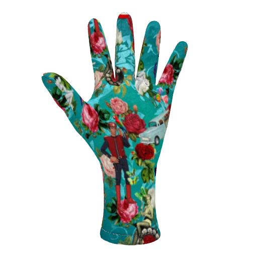 Fleece Gloves Hello Boys