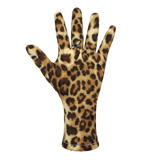 Fleece Gloves Buzz Leopard