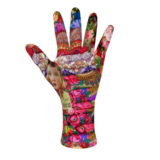 Fleece Gloves Flower Child