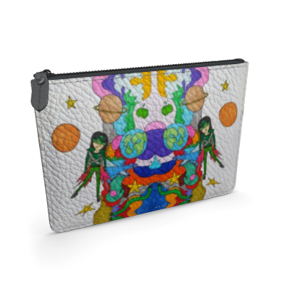 Pop Colourfull Elisavet in Space Leather Pouch