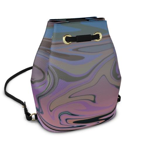 Bucket Backpack - Marble Rainbow 5