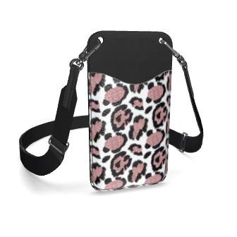 glitter leopard print phone case