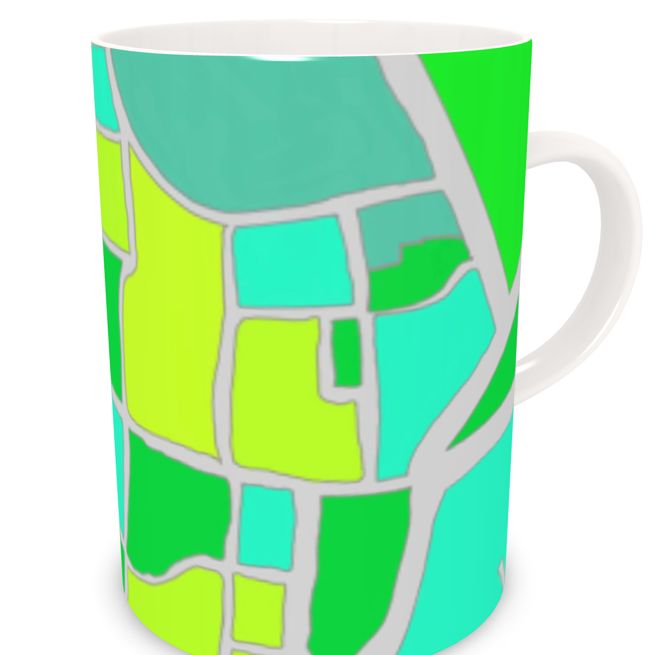 Chichester Green Bone China Mug