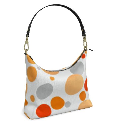 Orange Joy - Hobo Bag - abstract bright, cheerful gift, sunny summer