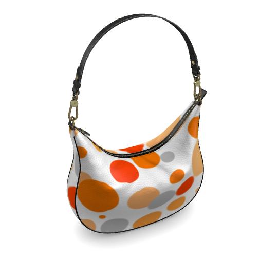 Orange Joy - Curve bag - abstract bright, cheerful gift, sunny summer