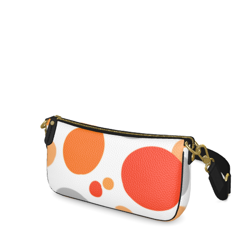Orange Joy - Baguette Bag abstract bright spots, cheerful gift, summer