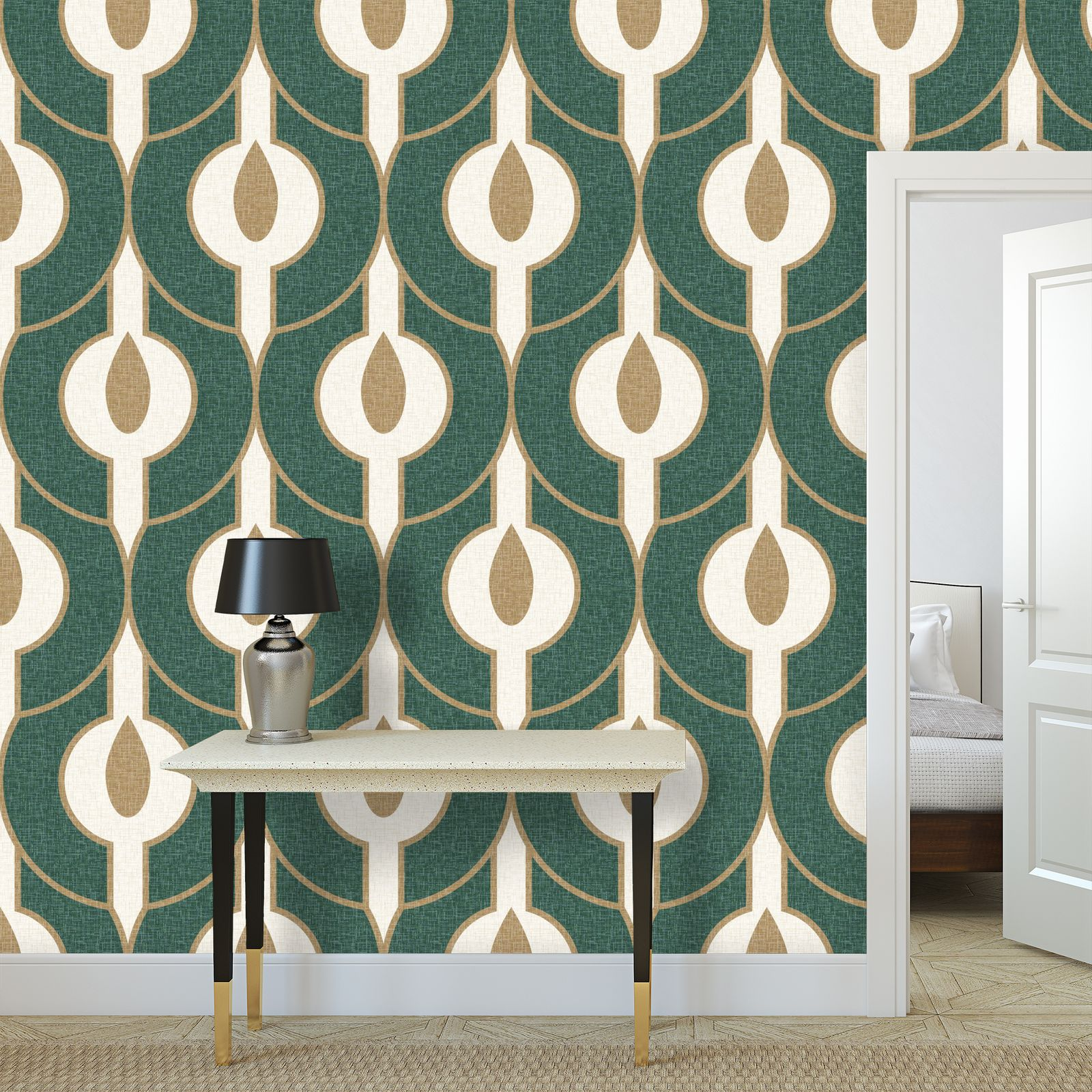 Power of nature - Wallpaper Rolls - green, geometric, abstract, natural design