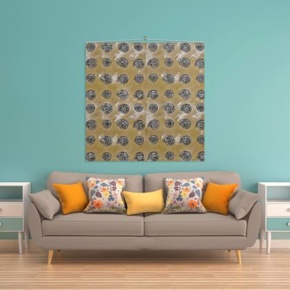 'Ammonites' Wall Hanging in Brown and Cream