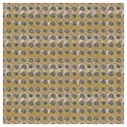 'Ammonites' Curtains in Cream and Brown
