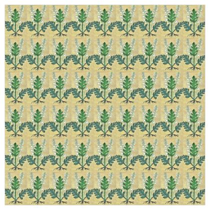 'Acanthus' Curtains in Cream and Green