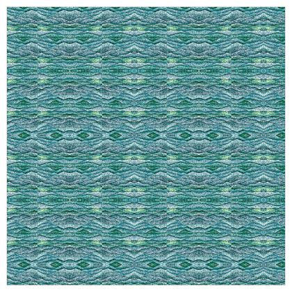 'Ocean Wave' Curtains in Blue and Green