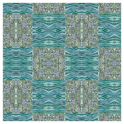 'Underwater' Curtains in Blue and Green