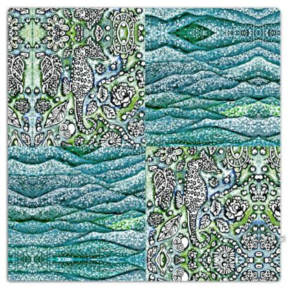 'Underwater' Throw in Blue and Green