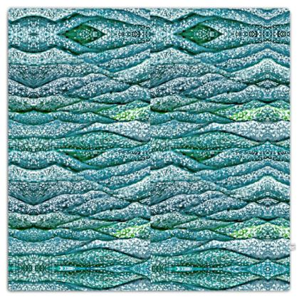 'Ocean Waves' Throw in Blue and Green