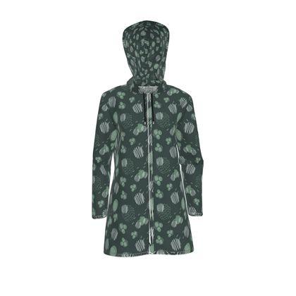 Womens Hooded Rain Mac Pine Presence