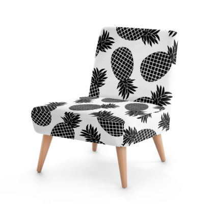 Pineapple In Black Occasional Chair