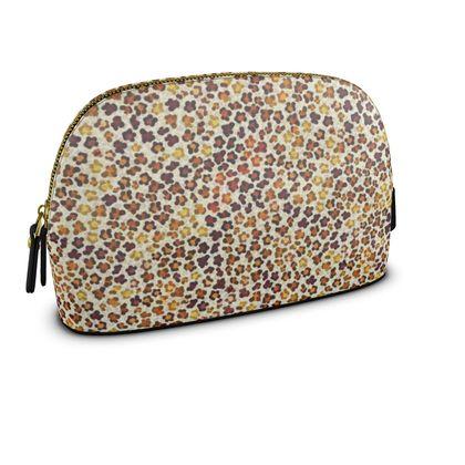 Leopard Skin Collection Womens Make Up Bag