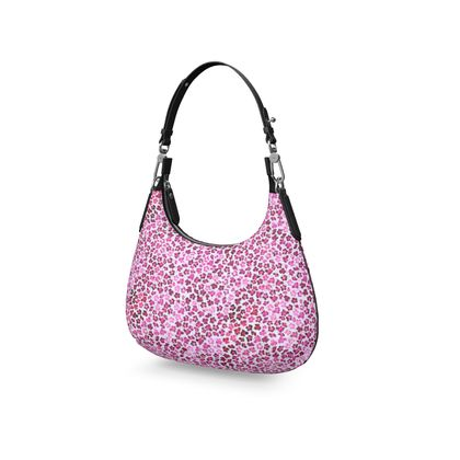 Leopard Skin in Magenta Collection Mini Curve Bag