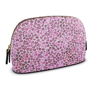 Leopard Skin in Magenta Collection Womens Make Up Bag