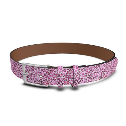 Leopard Skin in Magenta Collection Leather Belt
