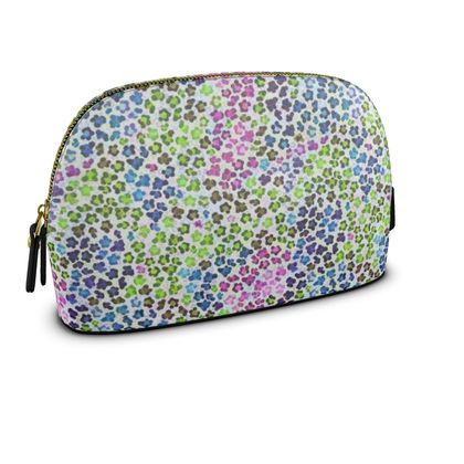 Leopard Skin Multicoloured Collection Womens Make Up Bag