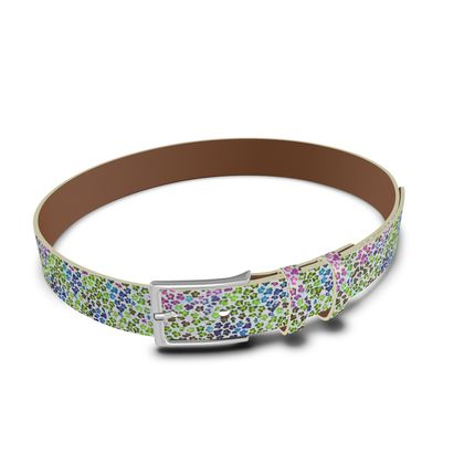 Leopard Skin Multicoloured Collection Leather Belt