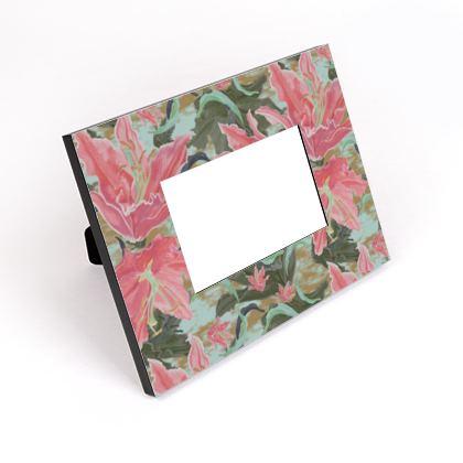 Cut - Out Frame, Pink, Green, Floral  Lily Garden  Schubert