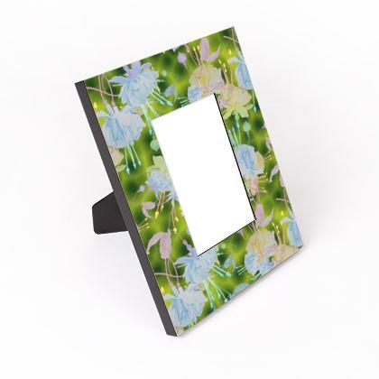 Cut - Out - Frame, blue, Yellow, Floral  Fuchsias  Newt