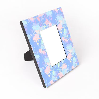 Cut - Out Frame, Blue, Pink, Floral  Fuchsias  Baby Blue