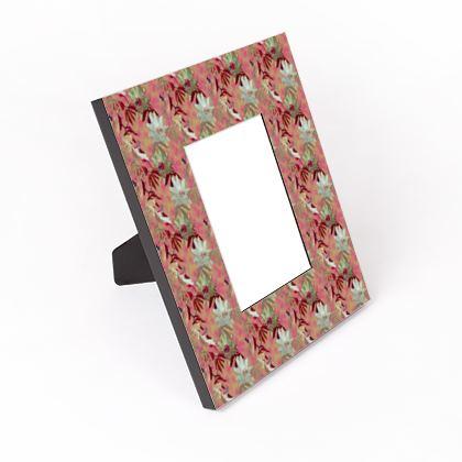 Cut - Out Frame Cinnamon, Ecru, Floral,  Passion Flower  Alto
