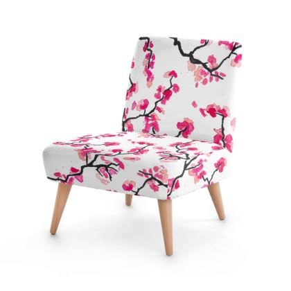 Japanese Cherry Blossoms Occasional Chair