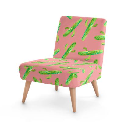 Cactus In Pink Occasional Chair