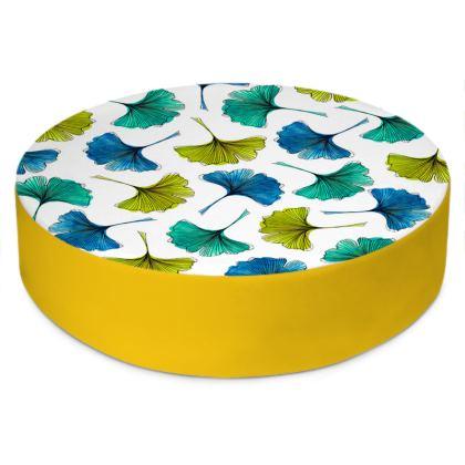 Ginkgo Flush Round Floor Cushions