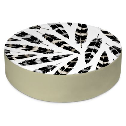 Viking Feather Round Floor Cushions