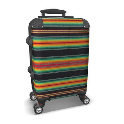 Carry-On Suitcase – Serape-Print #6  Black Rasta