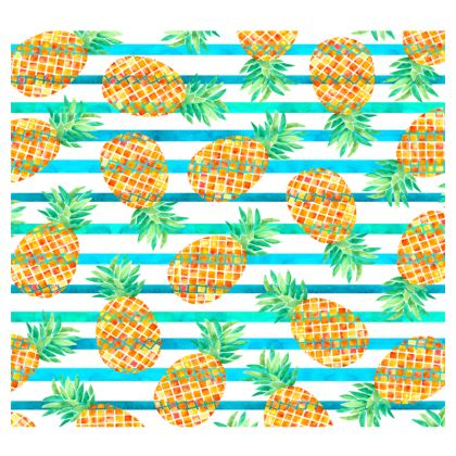 Pineapple Sea Stripes Leather Belt