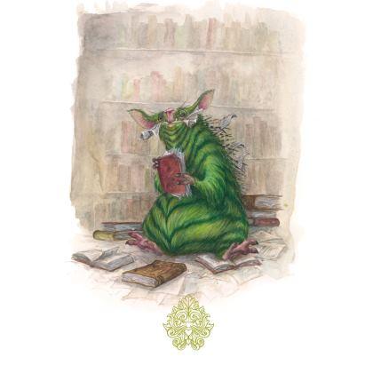 Bookwurm towel