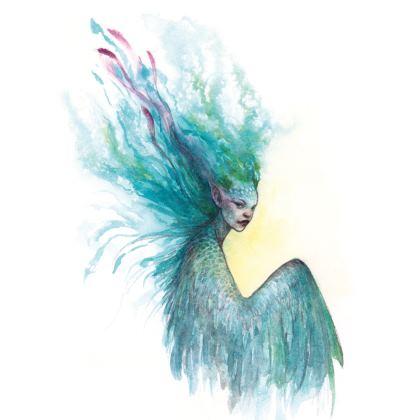 Blue winged faery Kimono