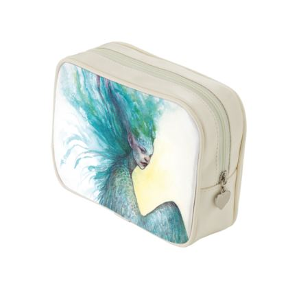Blue winged faery makeup bag