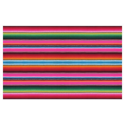 Zip Top Handbag – Serape-Print #4 – Hot Pink
