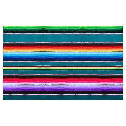 Zip Top Handbag – Serape-Print #7 – Teal