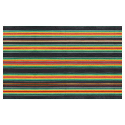 Zip Top Handbag – Serape-Print #6 – Rasta Black