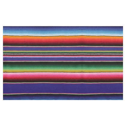 Zip Top Handbag – Serape-Print #1 – Cobalt