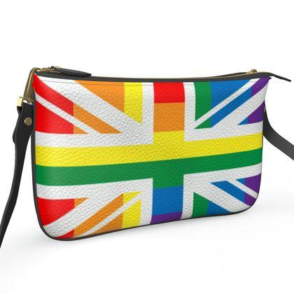 LGBTQ double zip bag