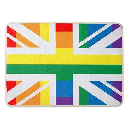 LGBTQ+ England UK flag bath mat
