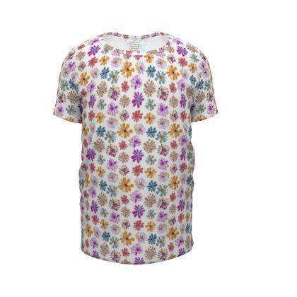 Rainbow Daisies Collection Girls Premium T-Shirt